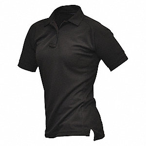 Womens Tactical Polo, Blck, Shrt Sleeve, XL