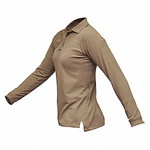 Womens Tactical Polo,Tan,Long Sleeve,S
