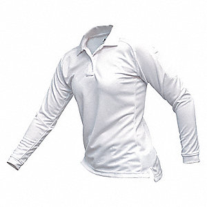 Womens Tactical Polo,White,Long Sleeve,M