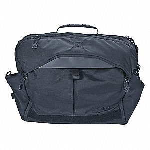 Courier Bag, Smoke Gray, 14 inL, 14 Pockets