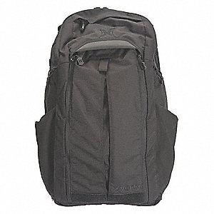 Backpack,Black,17 in. L,17 Pockets
