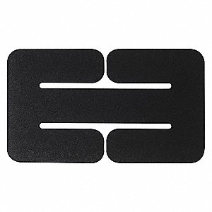 Belt Adaptor Panel, Hook-and-Loop, Black, Size: Universal