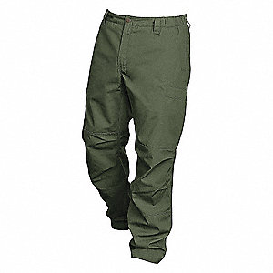 Mens Ripstop Pants,OD Green,44 x 34 in.