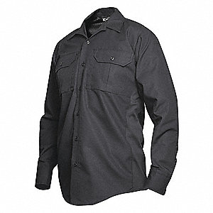 Tactical Shirt LS, 32  in. L, Black, S