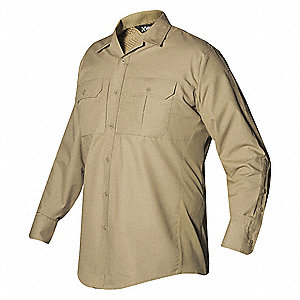 Tactical Shirt LS,40  in L,Desert Tan,XL