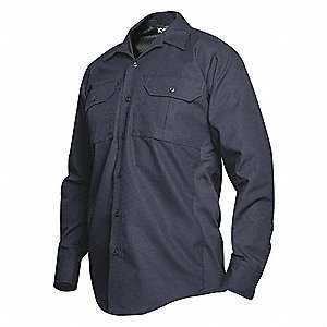 Tactical Shirt LS, 40  in. L, Navy, XL