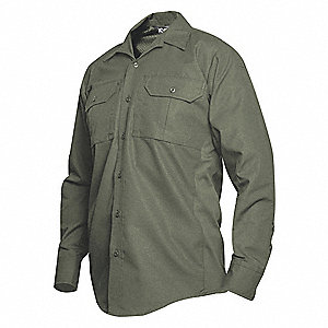 Tactical Shirt LS,33  in. L,OD Green,M