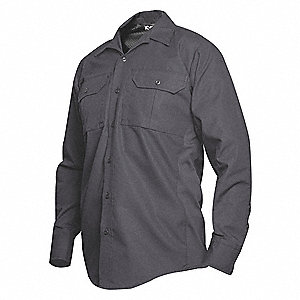 Tactical Shirt LS,40  in L,Smoke Gray,XL