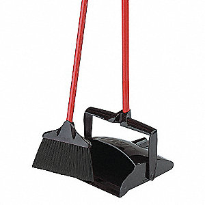 OPEN LID LOBBY DUST PAN/BROOM SET