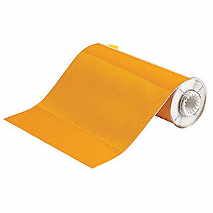 "Indoor/Outdoor B-584 Reflective Tape Thermal Transfer Label, Yellow Reflective, 10""W x 33 ft."