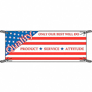 Safety Banner,3-1/2 x 10 ft.,Vinyl