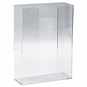 "Glove Dispenser, Clear, Acrylic, Holds: (3) Boxes, 10.93"" Width"