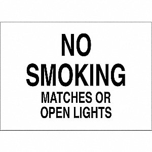 No Smoking Sign,7 x 10In,Black/White