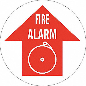Fire Alarm Sign,17 x 17In,White/Red