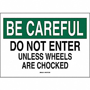 Traffic Sign,10 x 14In,Black/White