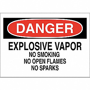 "Chemical, Gas or Hazardous Materials, Danger, Fiberglass, 14"" x 20"", With Mounting Holes"