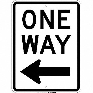 Traffic Sign,24 x 18In,Black/White