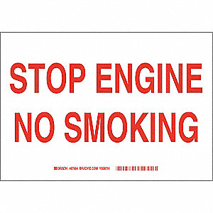 "No Smoking, No Header, Fiberglass, 10"" x 14"", With Mounting Holes, Not Retroreflective"