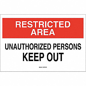 Admit Sign,3-1/2 x 5In,Blk/Rd and Wht