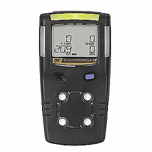 Multi-Gas Detector, 2 Gas,O2, H2S,Black