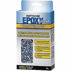 EPOXY COLOUR CHIPS BLUE/GRAY 454G