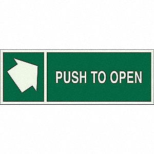 Directional Sign,5 x 14,Light Green/Grn