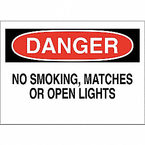 No Smoking Sign,7 x 10In,Red/White/Black
