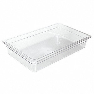 "20-3/4"" x 12-3/4"" x 5-3/4"" Polycarbonate Food Pan"