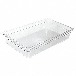 "20-3/4"" x 12-3/4"" x 7-3/4"" Polycarbonate Food Pan"