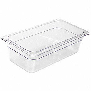 "12-3/4"" x 6-3/4"" x 5-1/2"" Polycarbonate Food Pan"