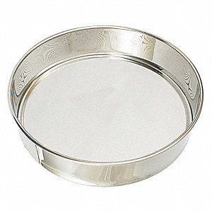 "3"" Stainless Steel Sieve with 16"" Diameter"