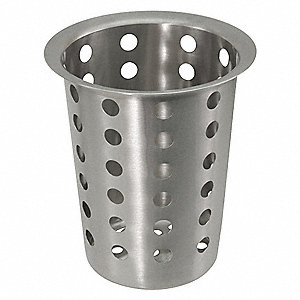 SILVERWARE CYLINDER,4-1/2 IN L,SS