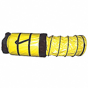 HOSE FLEX 8INX15FT C/W LOOPS+STR