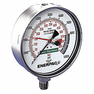 Pressure Gauge,0 to 10000 psi,6-1/2 in.