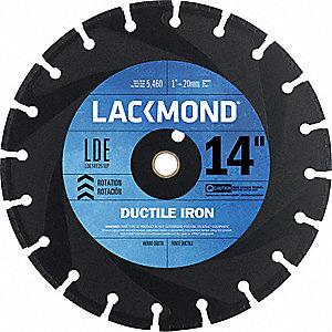 DIAMOND BLADE 14IN DUCTILE IRON 4D