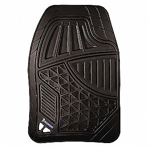 FLOOR MATS AUTO RUBBER 4PC BLACK