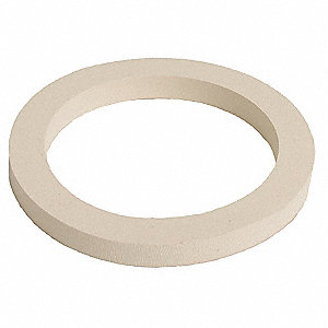"3"" White Buna-N Food Grade Cam and Groove Gasket"