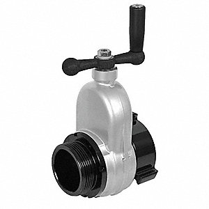 Gate Valve,Female NH,Aluminum,Non Rising