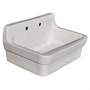 AMERICAN STANDARD Utility Sink,Vitreous China,22 In L - 41H867 ...