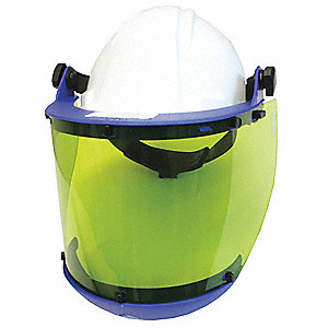 Front Brim Hard Hat, 4 pt. Pinlock Suspension, White, Hat Size: 6-3/4 to 7-3/8