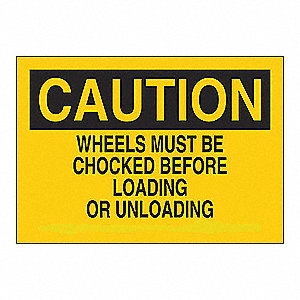 SIGN CAUTION WHEELS 10X14 SS