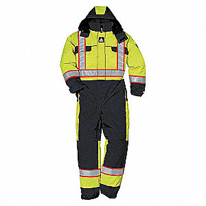 HV CSA QUILTD WINTER COVERALL YW XL