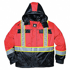 HV CSA QUILTED WINTER JACKET RED L