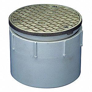 Zurn Pvc Bronze Adjustable Floor Cleanout 4 Quot Pipe Dia