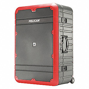LUGGAGE 30IN W/ETS GRY/RD