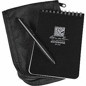 KIT 4 X 6 NOTEBOOK, COVER, PEN