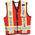 SURVEY VEST 100P COTTON MED RED