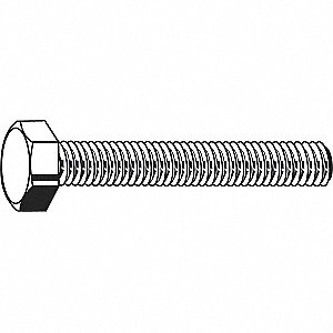 "5/8""-11 Steel Heavy Hex Bolt, A307B, 1-1/2""L, Plain Finish, 10 PK"