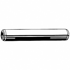 Stainless Steel Coiled Spring Pin, 12mm L, Plain Fastener Finish
