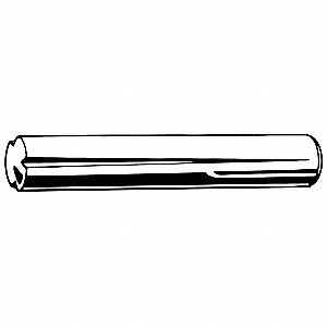 10mm Free Cutting Steel Grooved Taper Pin, Type A, 2.5mm Pin Dia.